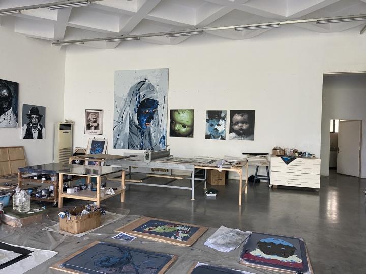 艺术家郭伟位于成都的工作室