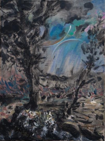蒋志 《无题》40x30cm 布面油画 2020