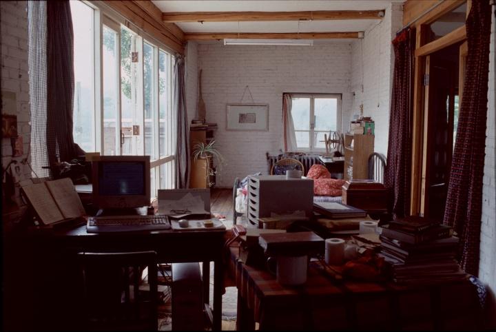 杨茂源昌平泰陵工作室1997年,胡敏摄影