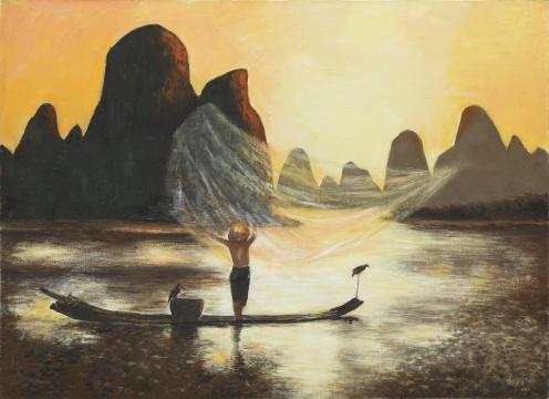 梁运清《期待》 80×110cm 布面油彩 2014  中央美术学院美术馆藏