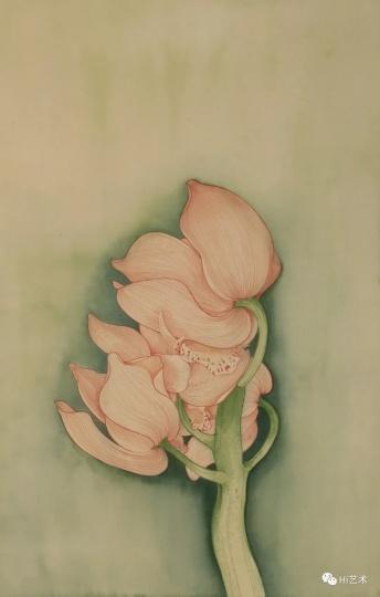 《兰花》 70×50cm绢本2020