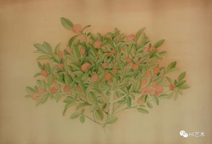 《桔子树》50×70cm绢本2020