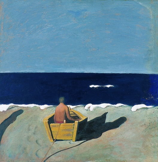 《黑海》49×49cm 布面丙烯 1986