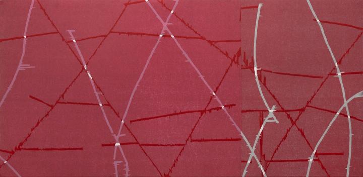 《无题》85×175cm套色木板刻画 2020