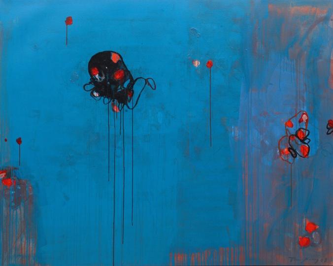 《黑色的生命》 160×200cm布面丙烯 2008