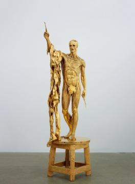 达明安·赫斯特 (英国) 《圣徒巴多罗买—剧痛》250×110×9镀金纯银 2008版数:1/3