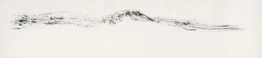 李华生《0824》53 x 234cm纸上水墨2008