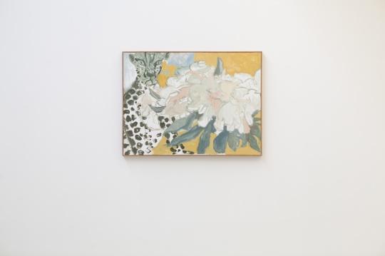 倪军《大花与豹豹》90 x 120 cm 布面油画 2021