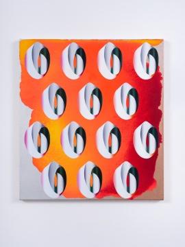 张月薇,《无题》 51 × 46 cm布面丙烯、油画及喷漆 2021