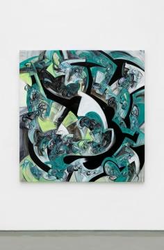 方媛 《奔马与藤蔓》 176×166cm 布面丙烯 2021