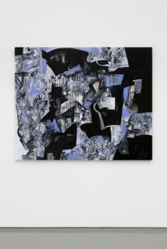 方媛 《野兽肖像》 166×203cm 布面丙烯与印度墨 2021