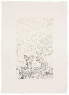 邱岸雄 《意志的胜利》54×39cm铜版画,日本缪斯铜版画纸,法国夏勃纳55981油墨2021