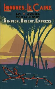 雅克·图歇 《威尼斯辛普隆东方快车的广告海报》 1930