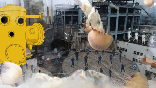 王苡沫 《人间狂想曲》 尺寸可变 灯箱喷绘布 2021(图片由艺术家提供)