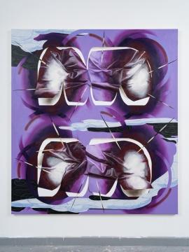 张月薇《图云》200 × 180 cm 布面丙烯、油画 2021