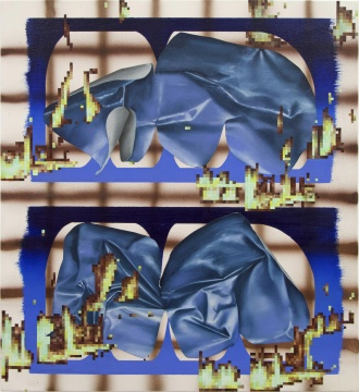 张月薇《地焱》61 × 56 cm 布面丙烯、油画 2020
