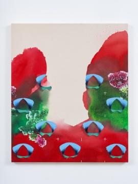 张月薇《倾 (春)》 95 × 80 cm 布面丙烯、油画 2021