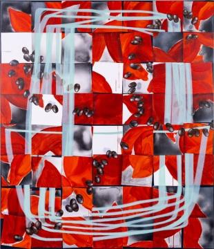 张月薇 《回声板》220 × 190 cm 布面丙烯、油画 2021