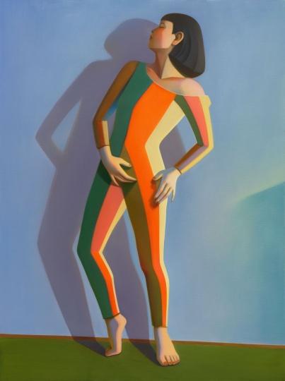 《包豪斯女孩No.8》 160×120cm 布面油画 2021  图片提供:艺术家与贝浩登