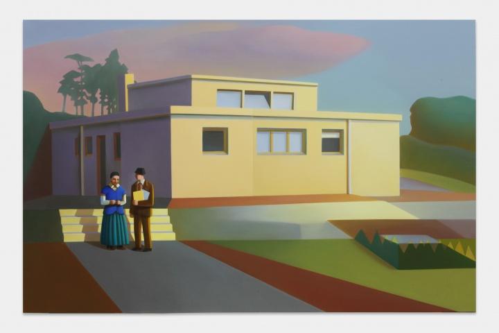 《霍恩住宅 No.1》 130×200cm 布面油画 2021  图片提供:艺术家与贝浩登