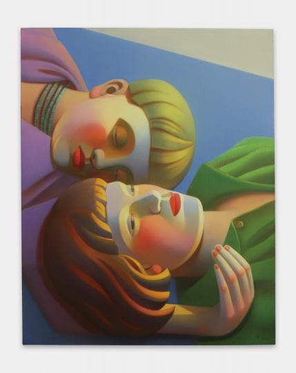《包豪斯女孩No.11》100×80cm布面油画 2021   图片提供:艺术家与贝浩登