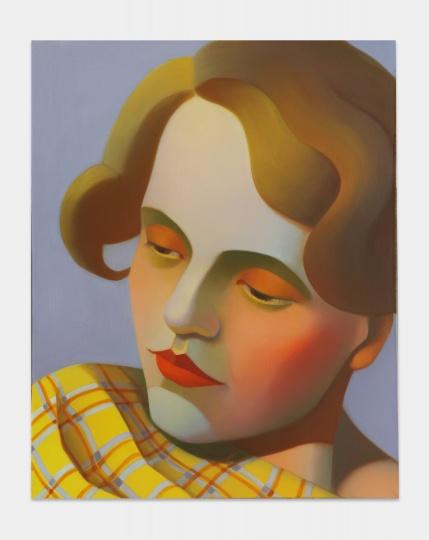 《包豪斯女孩No.7》 50×40cm 布面油画 2021   图片提供:艺术家与贝浩登