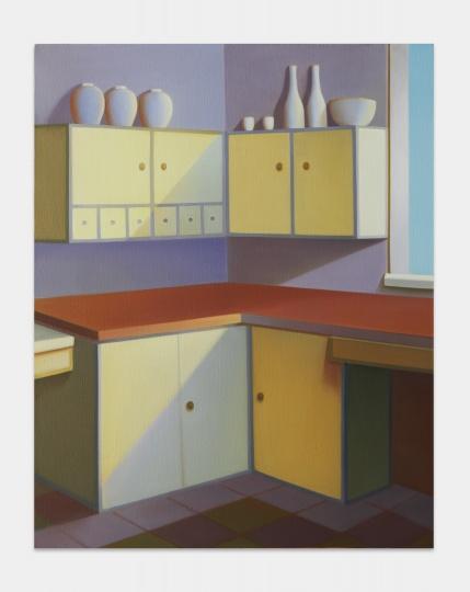 《霍恩住宅 No.2》 100×80cm 布面油画 2021   图片提供:艺术家与贝浩登