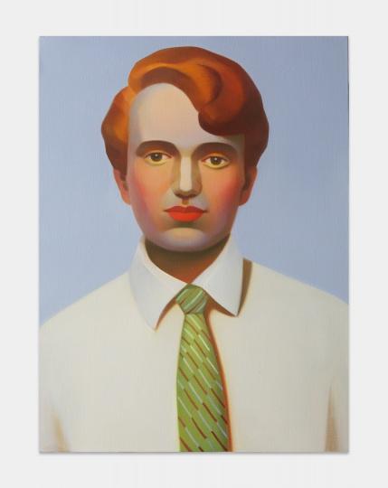 《包豪斯女孩No.6》 100×80cm 布面油画 2021  图片提供:艺术家与贝浩登
