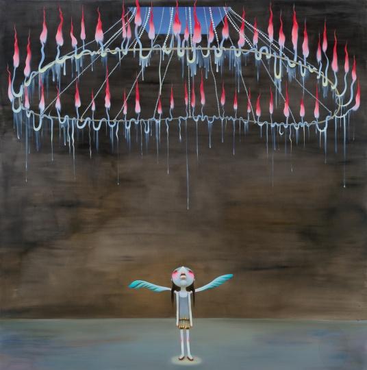《高级生活》 215×215cm布面油画2006