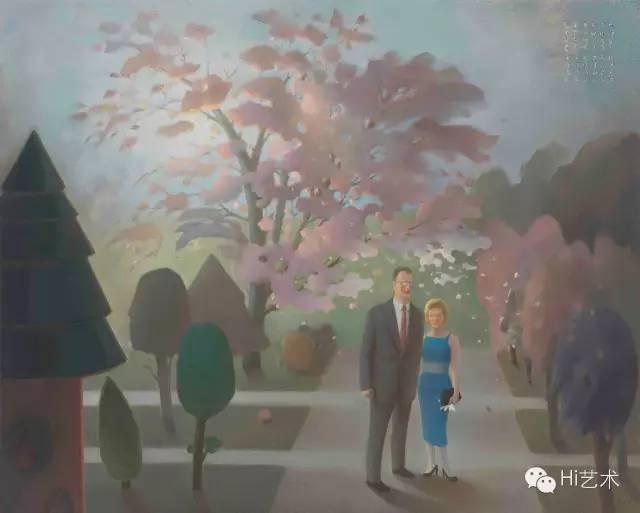 《1956·纽约·30岁·和米勒在一起》 160x200cm布面油画2016