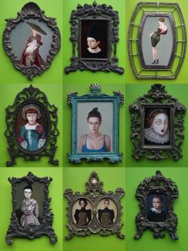 《精灵家族系列》 木板油画 尺寸可变 2020-2021