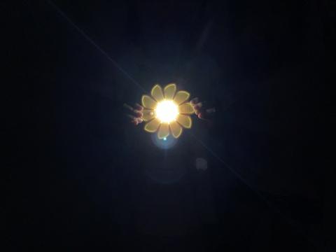 """埃利亚松的""""小太阳""""(图:王晓松)"""