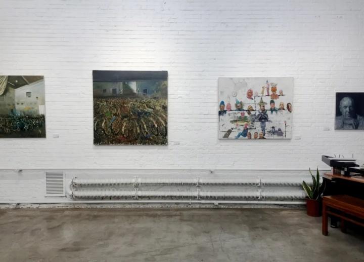 """""""农少华:时间的富有者""""展览现场 红门画廊 2020"""
