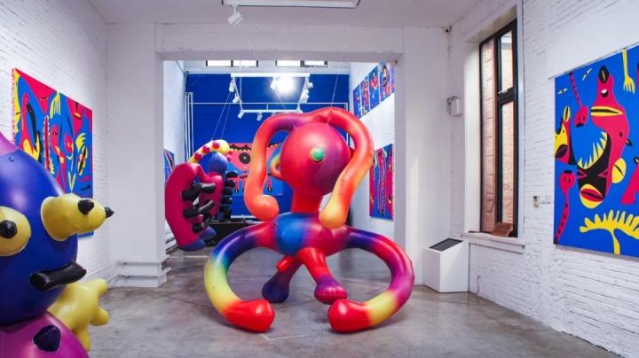 """""""刘锦鹏:变异加速""""展览现场 红门画廊 2020"""