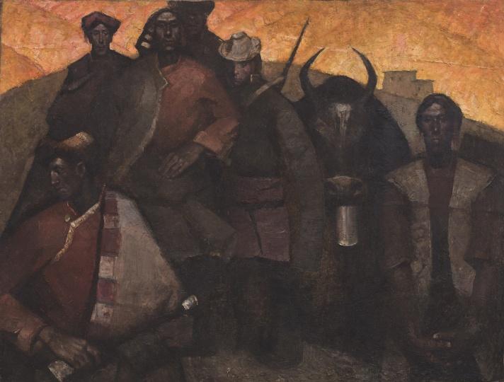 《高原》 88×117cm 布面油画 1981