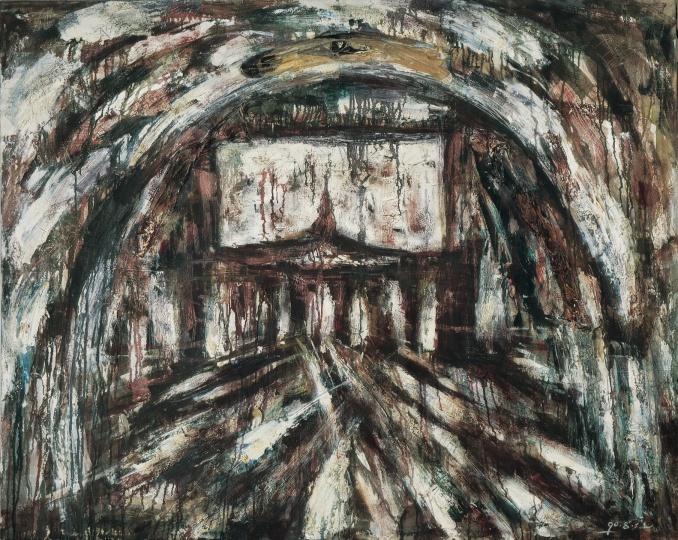 《家长》 87×110cm 布面油画 1988