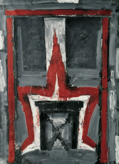 《权力的词汇》 180×130cm 布面油画 1993