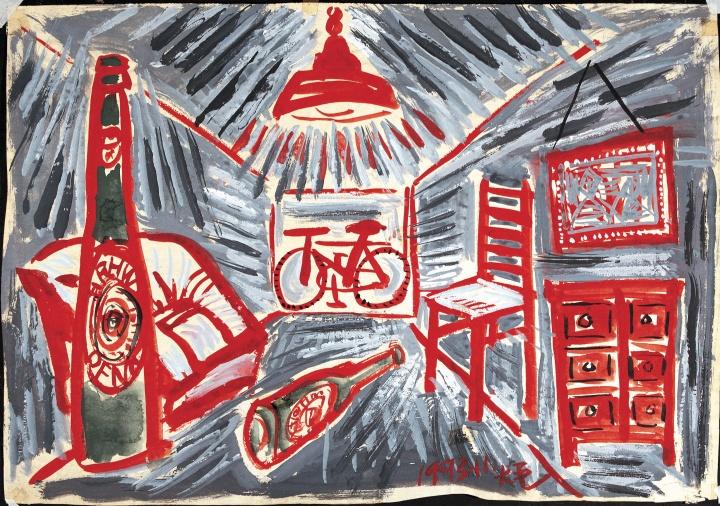《日常史诗·青岛啤酒》 40×55cm 纸本水彩 1993