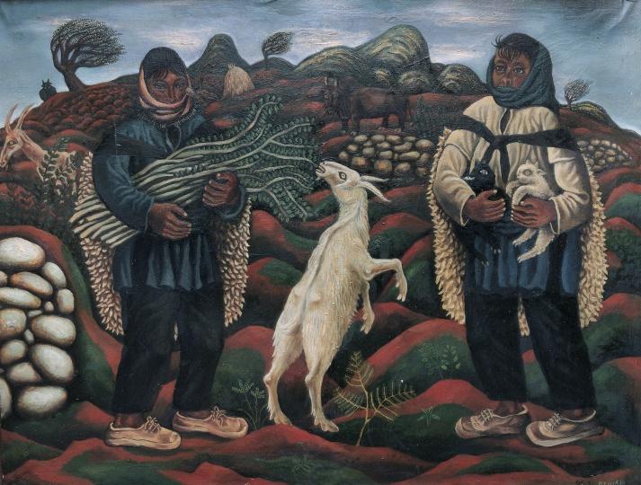 《圭山组画·红土的恩赐——春天的绿树枝》 80×120cm 布面油画 1987