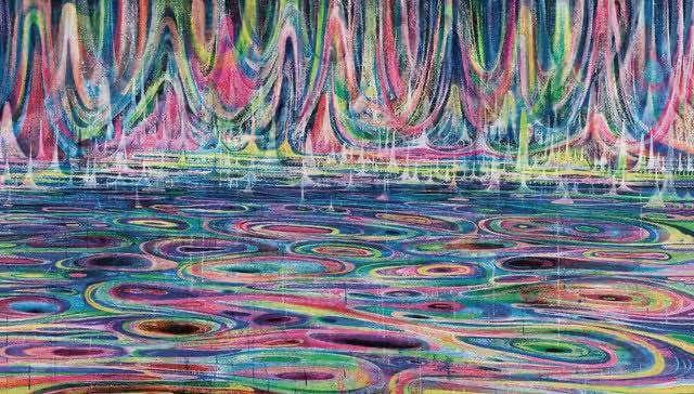 黄宇兴 《河流》 135×230cm 布面丙烯 2013  以57.5万元成交于2013北京保利春拍,由国内重要艺术机构收藏