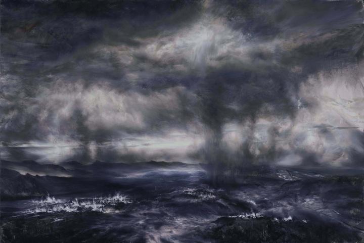 《蒸发的海湾》 200×300cm 布面油画2020