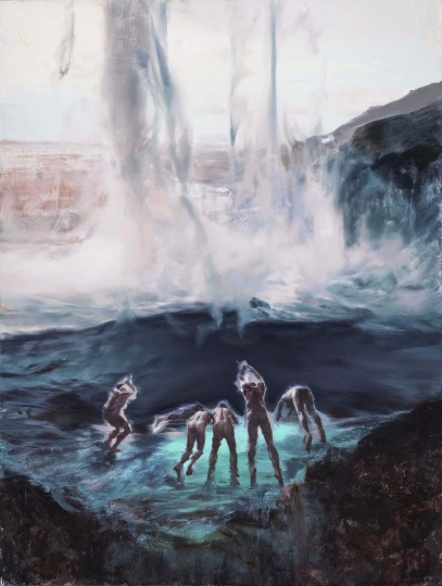 《蒸汽、水雾的象征》 275×205cm 布面油画2021