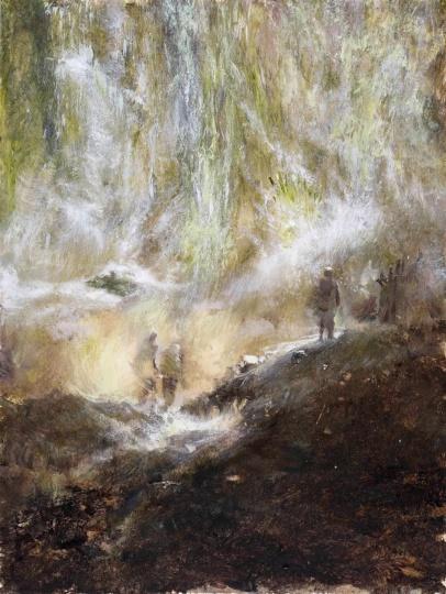 《来自遥远》 纸本油画棒 48×36 cm 2020