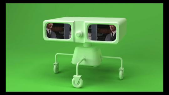 《3D机器人γ》单频视频循环2015