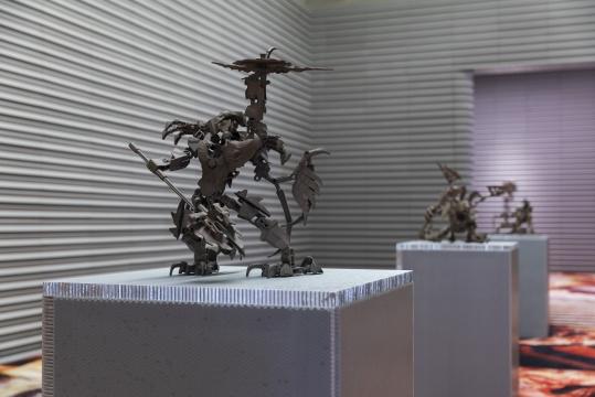 """英格夫·霍伦个展""""异物碎片""""展览现场,X美术馆"""