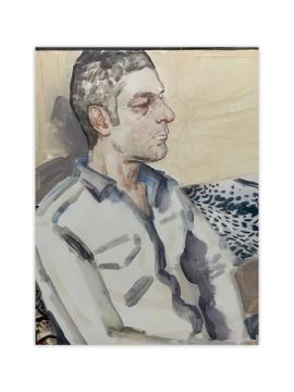 伊丽莎白·佩顿,《皮埃尔 (皮埃尔·于热)》 53.7x43.2cm 2011-2012,板面油画,私人藏品