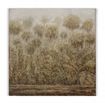 卢卡·阿鲁达,《无题 (沙漠 – 模型系列)》30x30cm2019 布⾯油画 X美术馆馆藏