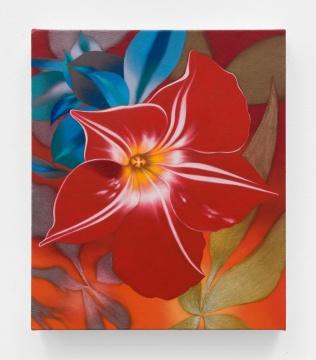 汤姆·艾伦 《黄十字》 33x28cm2019 布⾯油画 X 美术馆馆藏