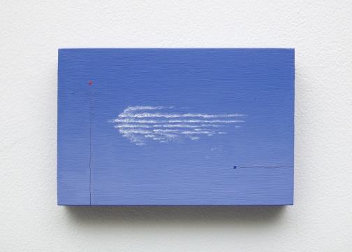 亚历山德拉·诺埃 《绕行云》10.2x15.2x1.9cm 2021 板面油彩和瓷漆 致谢艺术家和Bodega画廊(纽约)
