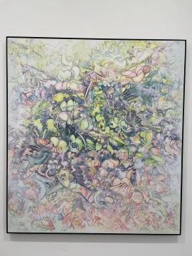 60后艺术家,画出了赛博朋克风的抽象